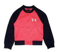 Under Armour Girls Pink & Navy Fleece Lined Warm Up Jacket Size 5