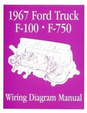 FORD 1967 F100 - F750 Truck Wiring Diagram Manual 67