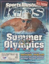 *MICHAEL PHELPS*SIGNED*AUTOGRAPHED*SPORTS ILLUSTRATED*SWIMMING*USA*OLYMPICS*PSA!