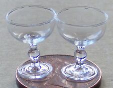 1:12 Scale 2 Champagne Glasses Tumdee Dolls House Miniature Accessory GLA17a