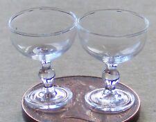 1:12 escala 2 Copas De Champagne Casa de Muñecas en Miniatura Bebida Accesorio GLA17a