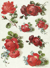 Rice paper -Red Roses- for Decoupage Scrapbooking Sheets