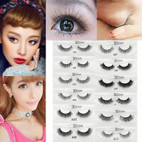 100% 3D Mink Soft Long Natural Eye Lashes Makeup Thick False Eyelash Extension