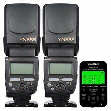 Yongnuo YN685 Wireless Speedlite Flash x 2 + YN-622N TX Controller Pro For Nikon