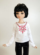 """Boneka T-Shirt with embroidery for 43cm / 17"""" BJD/MSD dolls"""