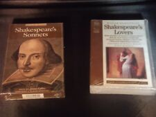 Lot of 2 Brand New Shakespeare Audio Cassettes Sonnets and Lover's