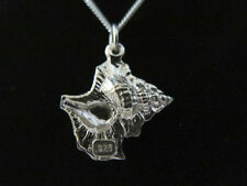 STERLING SILVER 3D CONCH SEA SHELL OCEAN CHARM PENDANT DETAIL 3.3g  925 NEW A39