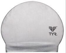 New TYR Latex Swim Cap - Color SILVER
