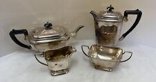 Art Deco/ Style Silver Plate  - EPNS Unett Place -  4 Piece Tea Set (D5)