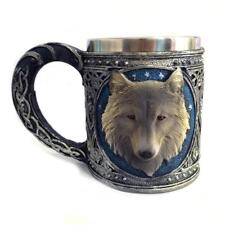 Stainless Steel 3D Wolf Head Wine Coffee Mug Cup Drinkware Hallowmas Gift