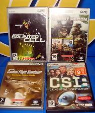 Juegos de PC - 4 juegos de PC splinter cell- C.S.I - ghost recon-COMBAT FLIGHT