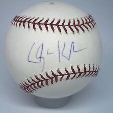 Clayton Kershaw signed Rawlings OML Baseball MLB Holo Vintage auto Dodgers A299