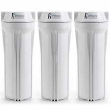 3pc Water Filter Housings For RO, DI, Drinking Water Filtration Systems 1/4