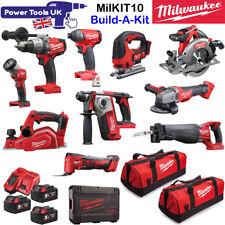 Milwaukee MILKIT10 10pc 18V 3x 5Ah Cordless Power Tool Kit Build-A-Kit