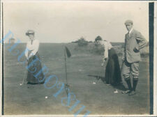 Dodhead Golf Club Putting At the 18th Green Original  Edwardian Photo 4 x 3 inch