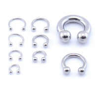 Horseshoe Bar Circular Barbell Lip Nose Septum Ear Ring Various Sizes available