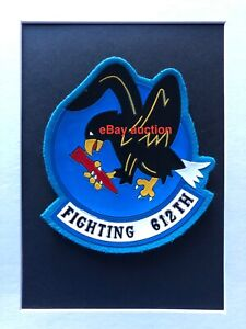 Original oldie USAF 612th Tactical Fighter Squadron rubber patch on felt