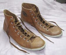 MENS SZ 13 CONVERSE CHUCK TAYLOR ALL STAR HIGH TOP BROWN LEATHER ATHLETIC SHOES