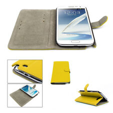 NEW WALLET CASE COVER STAND MAGNETIC PU LEATHER YELLOW SAMSUNG GALAXY NOTE II 2
