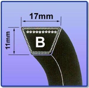 B SECTION V BELT SIZES B56 - B85 V BELT 17MM X 11MM VEE BELT