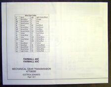 Case International IH Farmall 40C and 50C Tractors Electrical Schematics