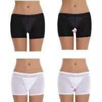 Women Sheer Micro Boyshort See-through Sissy Lingerie Briefs Panty Underwear