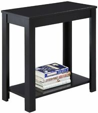 Small Narrow Wooden Black Crown Mark Chair Side End Table Home Furniture New