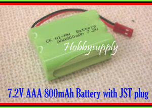7.2V Ni-MH 800mAh AAA 6Cell Battery Pack for Double Horse 7009 RC Boat Car Truck