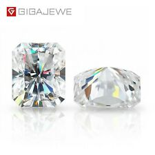 White D Color Moissanite Loose Radiant Cut For Jewelry Making With Certificate