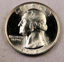 (1) 1936 Washington Quarter // Gem BU++ // 90% Silver // 1 Coin