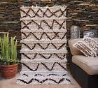 Vintage Wedding Blanket Moroccan Handira Handmade Berber Sequins Throw Rug 018