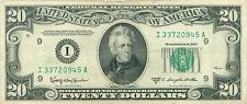 1950 series D I/A (MINNEAPOLIS) $20 Dollar Federal Reserve Note Bill