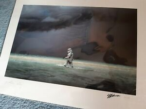 Star Wars Rogue One Exclusive Limited Signed  Stormtrooper Print
