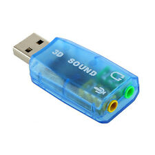 3D Audio Card USB 1.1 for Mic/Speaker Adapter Surround Sound 7.1 for Laptop PC