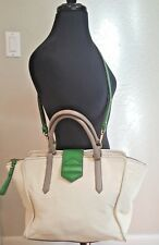 Marc Jacobs beige/ kelly green crossbody/satchel Ret $595