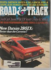 Road & Track Nov. 1978 Datsun 280ZX Fiat 124 Sport Coupe, Alfa,  Miniature Model