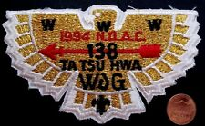TA TSU HWA LODGE 138 OA INDIAN-NATIONS COUNCIL OK 1994 NOAC FLAP WHITE BORDER