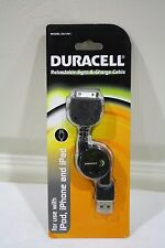 New Duracell Retractable Sync & Charge Cable For iPod, iPhone and iPad (DU1541)