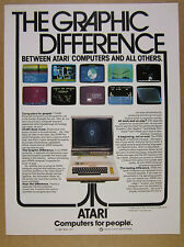 1981 Atari 800 Computer photo 10 program game screenshots vintage print Ad