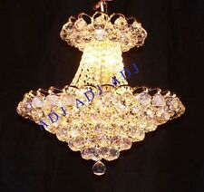 "Palace Euro 18""H 8 Lights Crystal Chandelier Light Gold -Precio Mayorista"