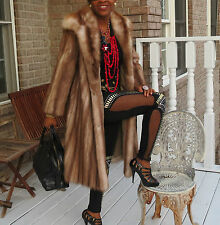 Mint Designer Neiman Marcus Full length Stone Marten Sable Fur coat jacket S 0-6