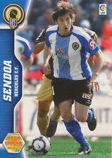 N°140 SENDOA # HERCULES.CF CARD PANINI MEGA CRACKS LIGA 2011