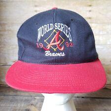 RARE NOS 1992 WORLD SERIES ATLANTA BRAVES SNAP BACK Trucker HAT Graham ball Cap