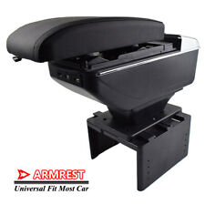 For Universal Central Console USB Armrest Storage Compartment Box Heightening