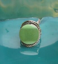 Ring Alpaka Silber Achat grün Stein Ethno Inka Maya Indianer Stil 10