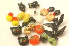 Handmade Lampwork Glass Halloween Beads Mix Lot (18)