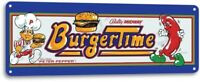Burger Time Classic Bally Midway Arcade Marquee Game Room Decor Metal Tin Sign