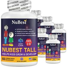 Pack of 6 NuBest Tall Kids for Age 4-9 Helps Kids Grow & Develop 60 Chew Tablets