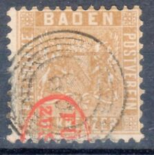 "Baden, Sc#17, used, 5R ""89"" plus RED ""Furst zu Salm"" cxl, **RARE**, Signed GPSY"