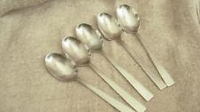 """5 Fiskars Stainless Steel place/oval spoons Triennale  pattern 6 7/8"""" Finland"""